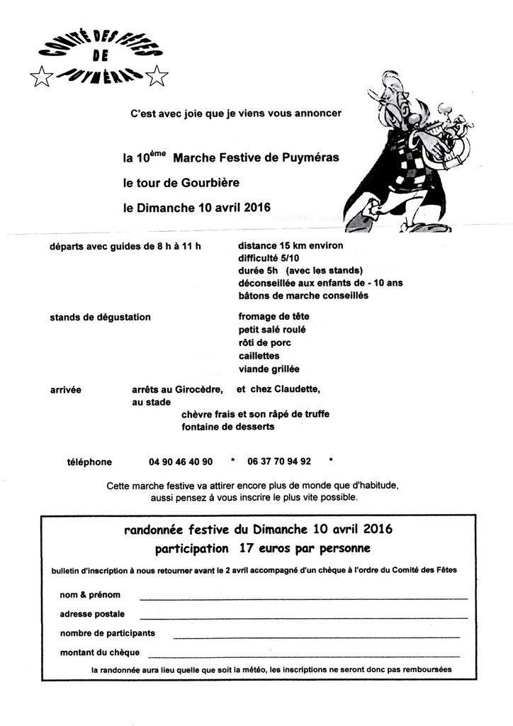 10è Marche festive de Puyméras
