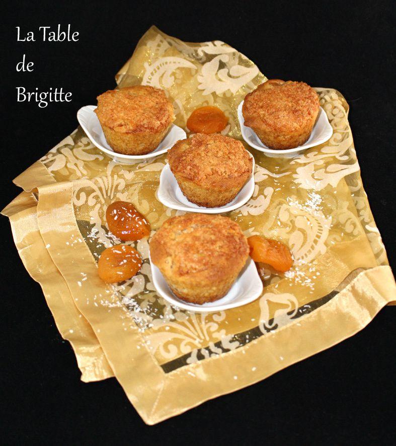 Muffins aux abricots moelleux et croustillant de noix de coco