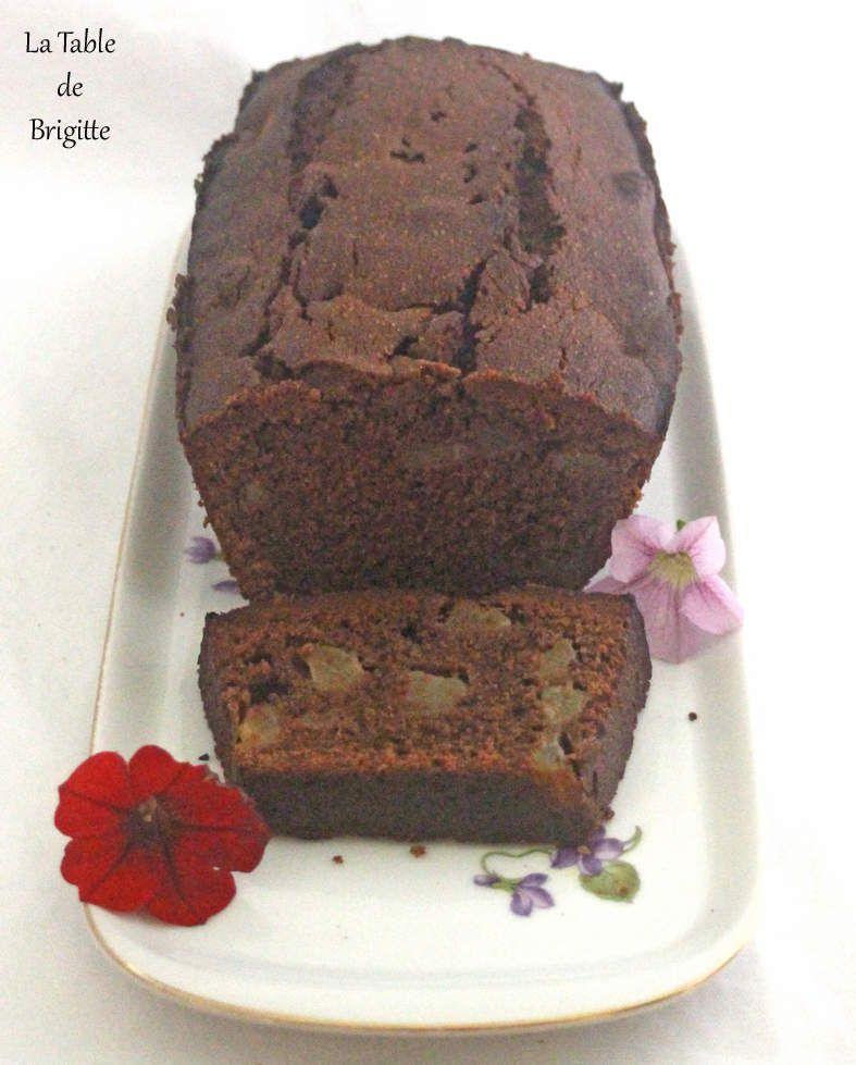 cake au chocolat et aux poires la table de brigitte. Black Bedroom Furniture Sets. Home Design Ideas