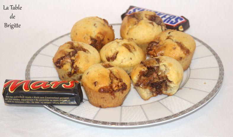 Muffins aux Snickers et aux Mars