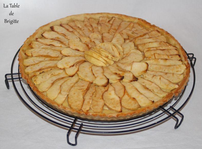 Tarte au sucre brun et tarte aux pommes
