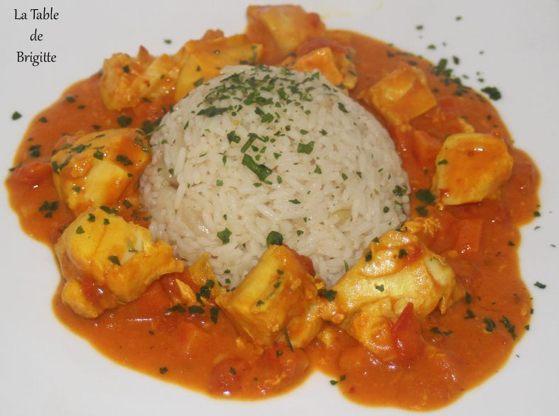 Curry de poissons épicés