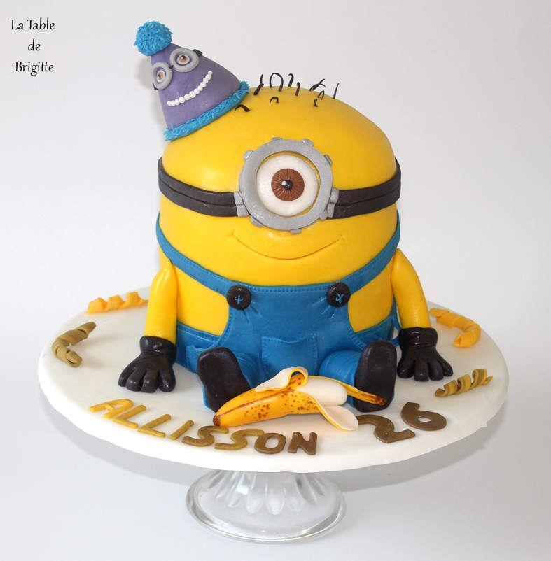 Gâteau &quot&#x3B; Minion &quot&#x3B;
