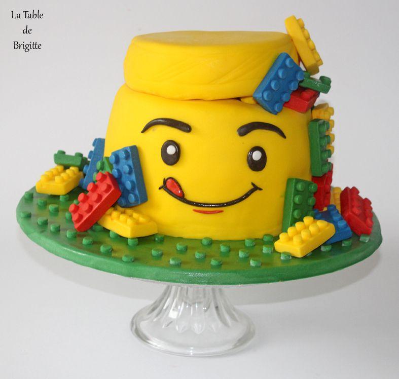 Gâteau &quot&#x3B; boîte de Lego &quot&#x3B;