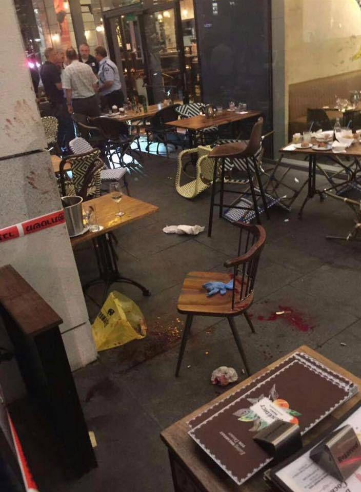 La scène après la fusillade : 4 tués, 11 blessés dont certains très grièvement