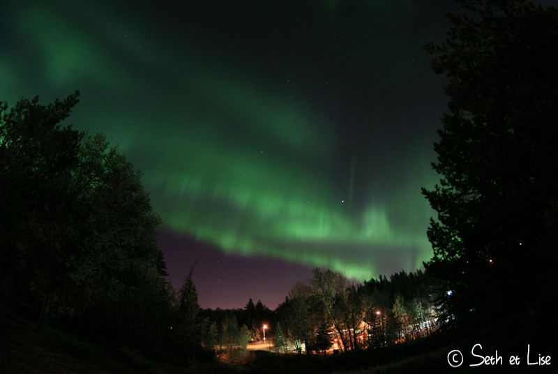 Des aurores boréales au Canada!