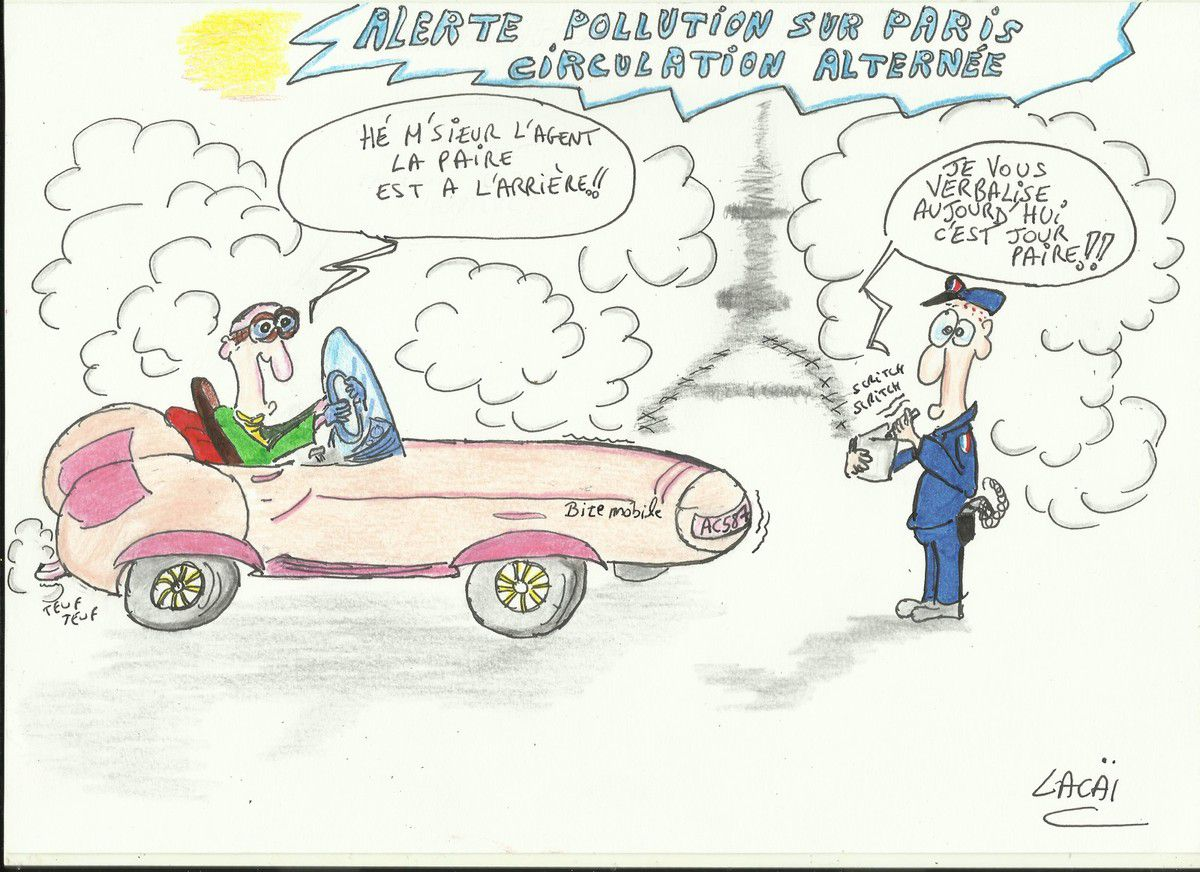 alerte pollution sur paris circulation alternée!!