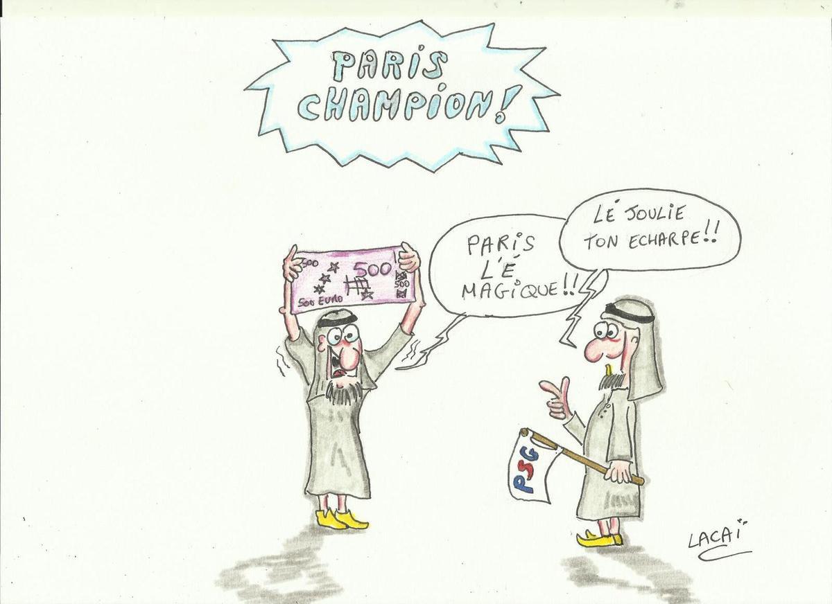 dessin caricature paris champion!!!!
