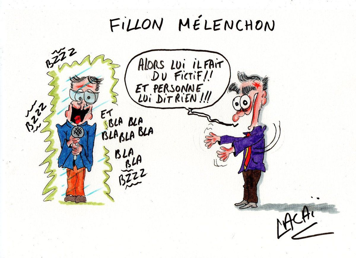réaction de fillon face à l'hologramme mélenchon