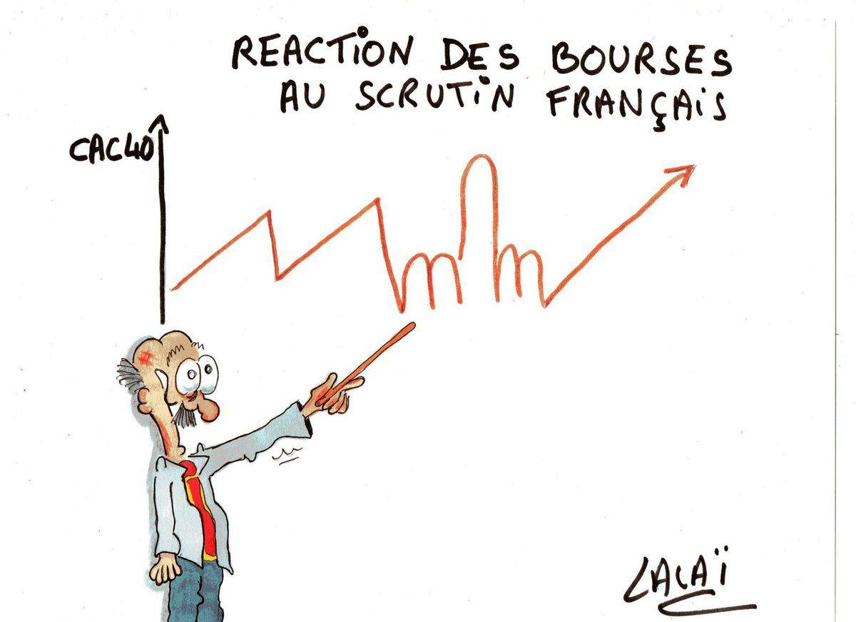 reaction des bourses au scrutin...