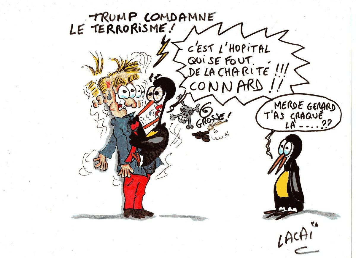 trump condamne les attentats...