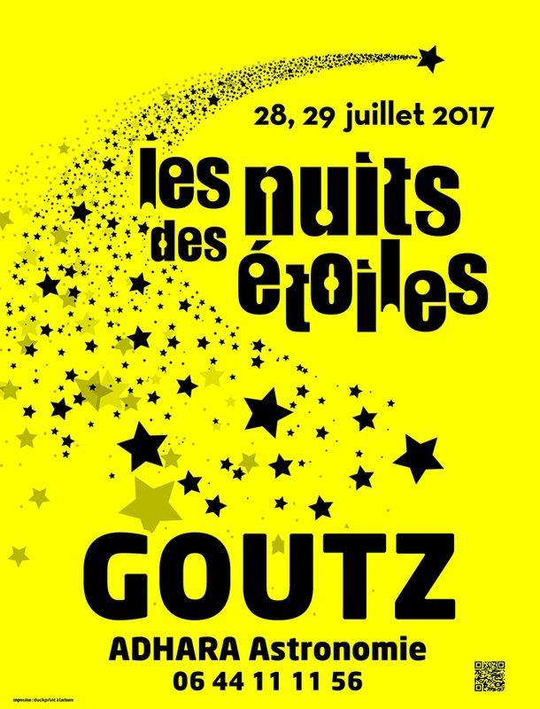 Nuits des étoiles - 28 &amp&#x3B; 29 juillet 2017