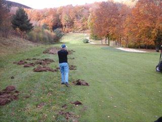 Laissez un Ecossais jouer au golf...