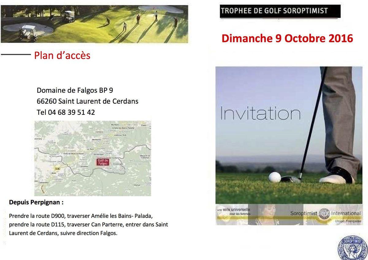 Compétition Trophée Soroptimist 09/10/2016