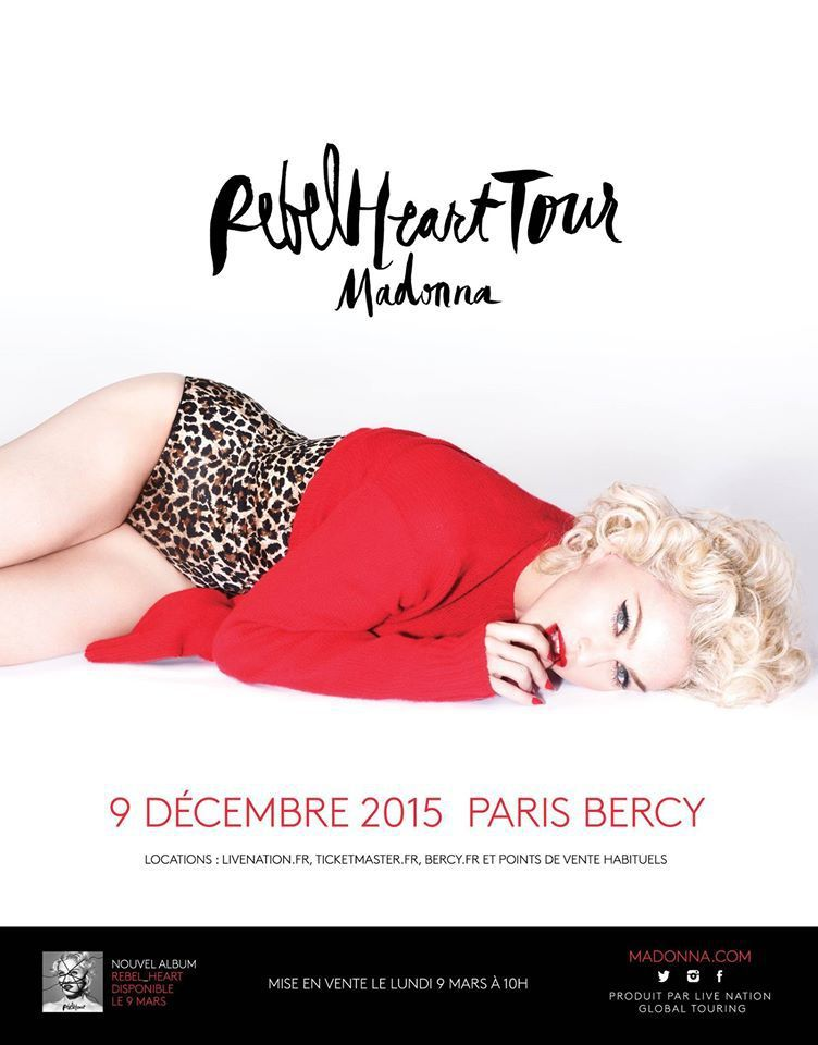 REBELHEART TOUR : LES DATES DE LA TOURNEE
