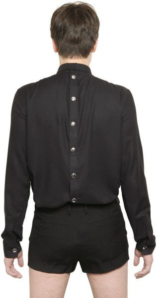 front and back buttoned shirt from givenchy