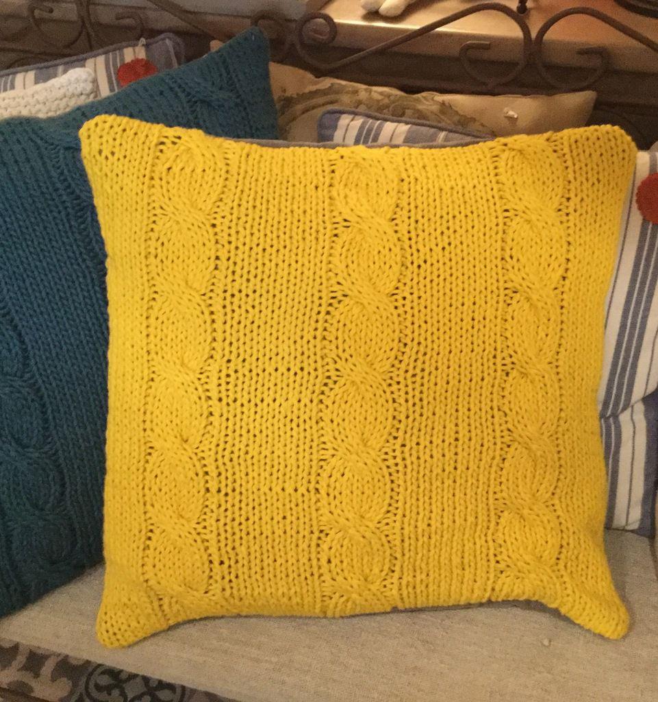 Coussin au tricot