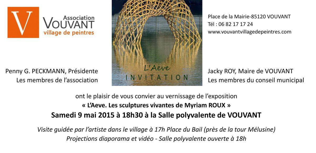 Vernissage de l'AEVE, Myriam Roux.