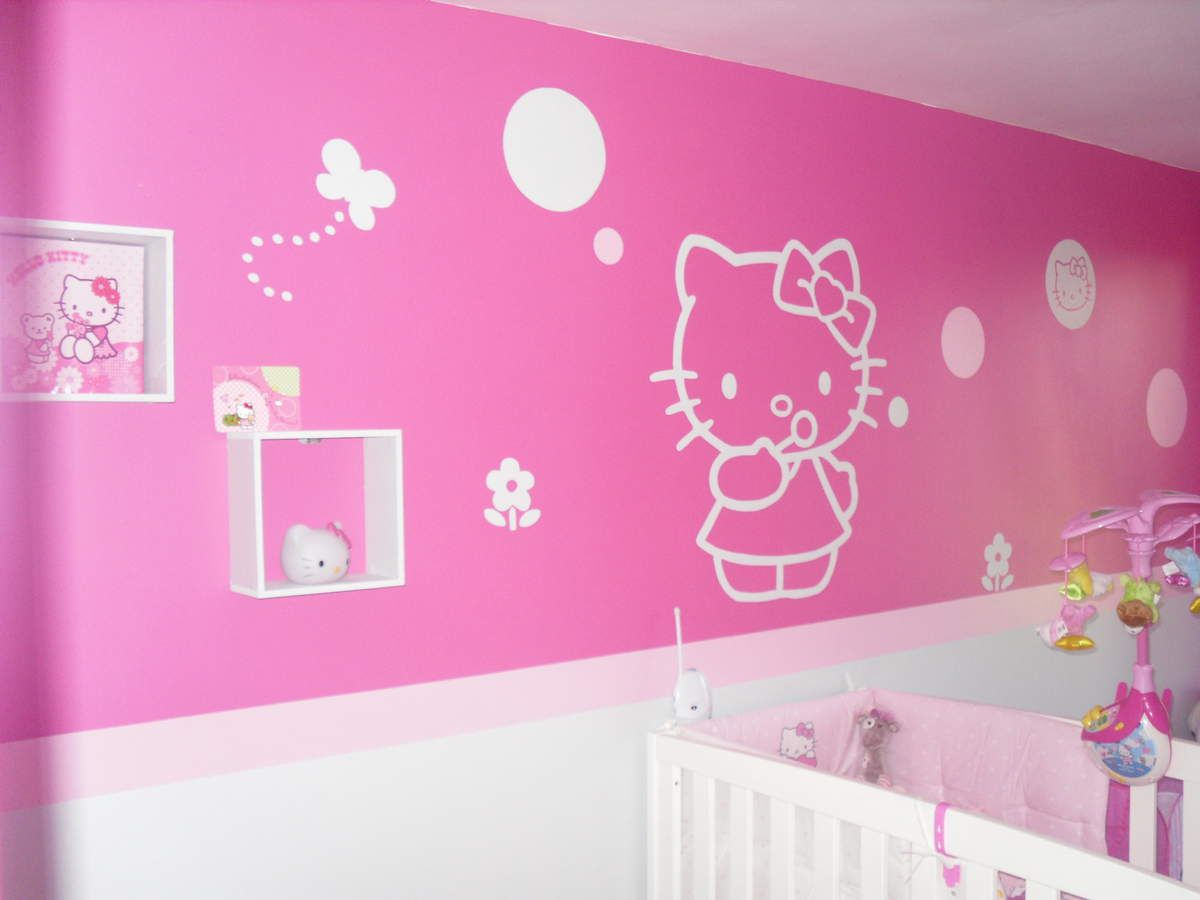 Chambre hello kitty bebe lit hello kitty with chambre - Decoration hello kitty pour chambre bebe ...