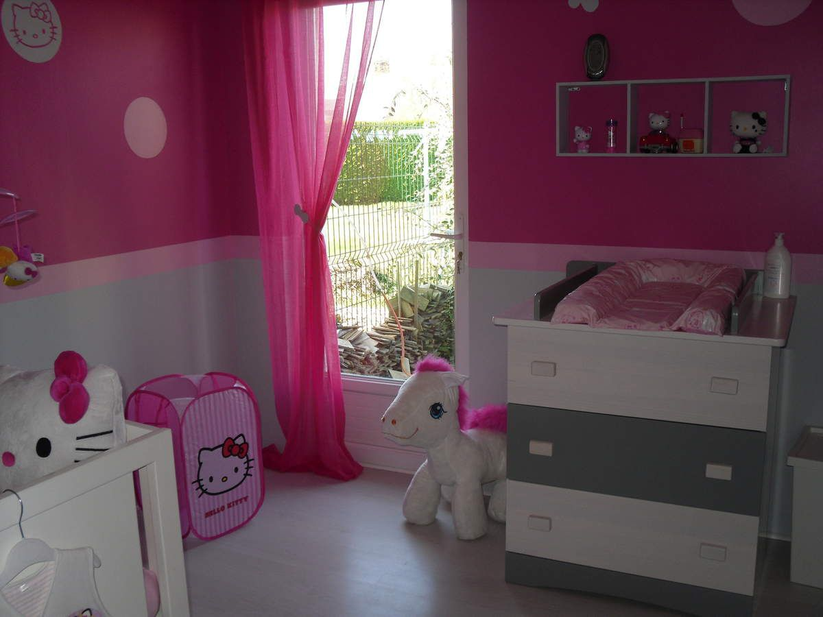Decoration Chambre Bebe Fille Rose Et Gris - Maison Design - Bahbe.com