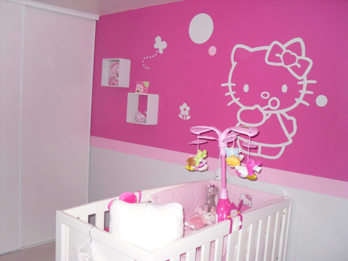 D coration chambre petite fille hello kitty for Decoration chambre de bebe fille