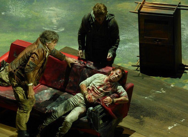 Thomas Hampson (Arthus), Roberto Alagna (Lancelot) et Stanislas de Barbeyrac (Lyonnel)