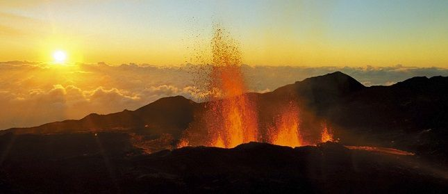 Volcan de la Fournaise. Photo : île-de-la-réunion.