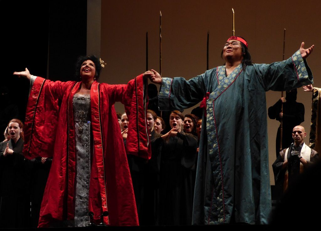 Anna Shafajinskaia (Turandot) et Rudy Park (Calaf)