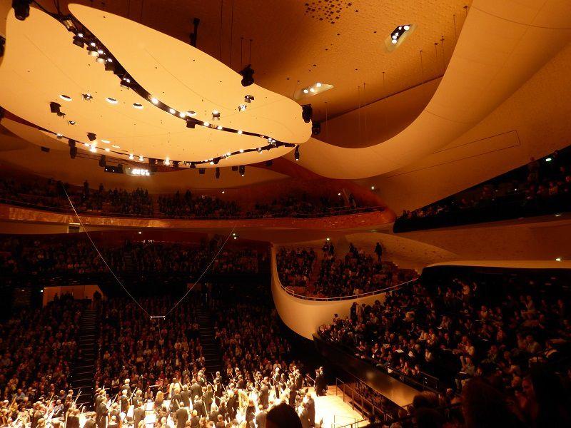 Salle de la Philharmonie à la fin du concert
