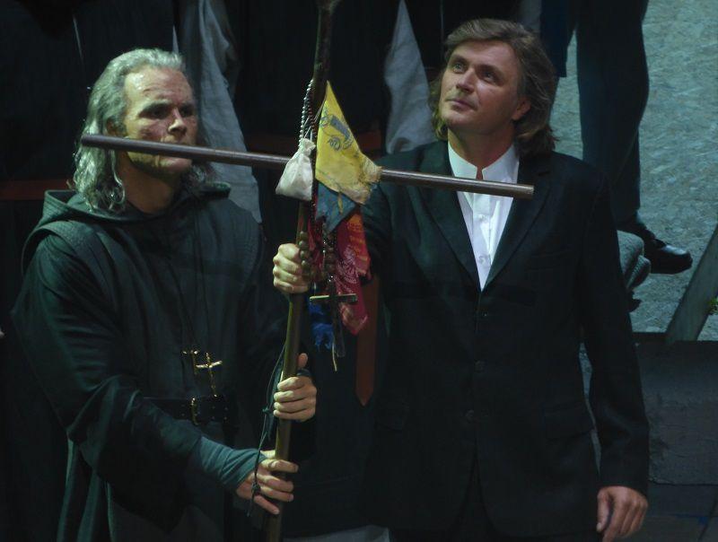 Ryan McKinny (Amfortas) et Klaus Florian Vogt (Parsifal)