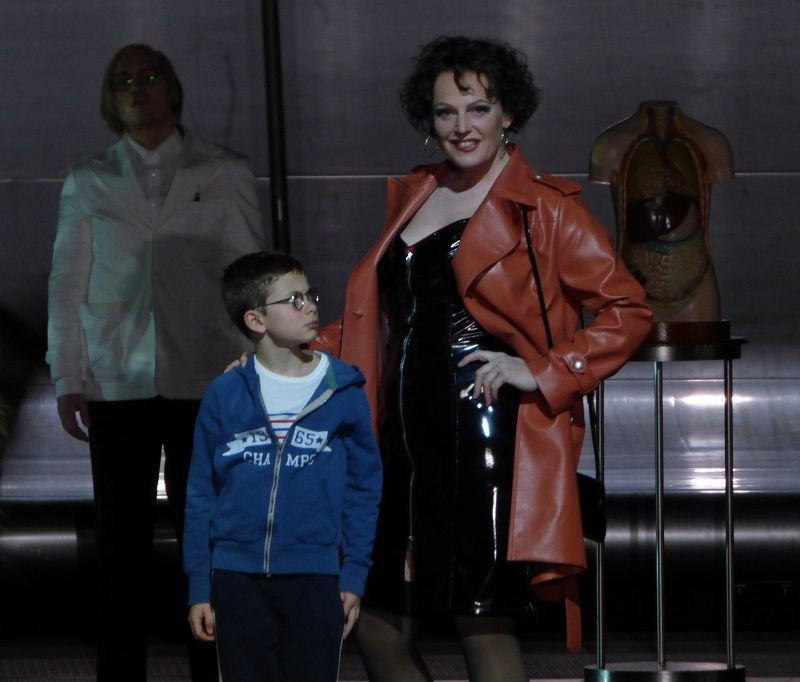 Christopher Maltman (Wozzeck), Eva-Maria Westbroek (Marie) et Jacob Jutte (L'enfant)