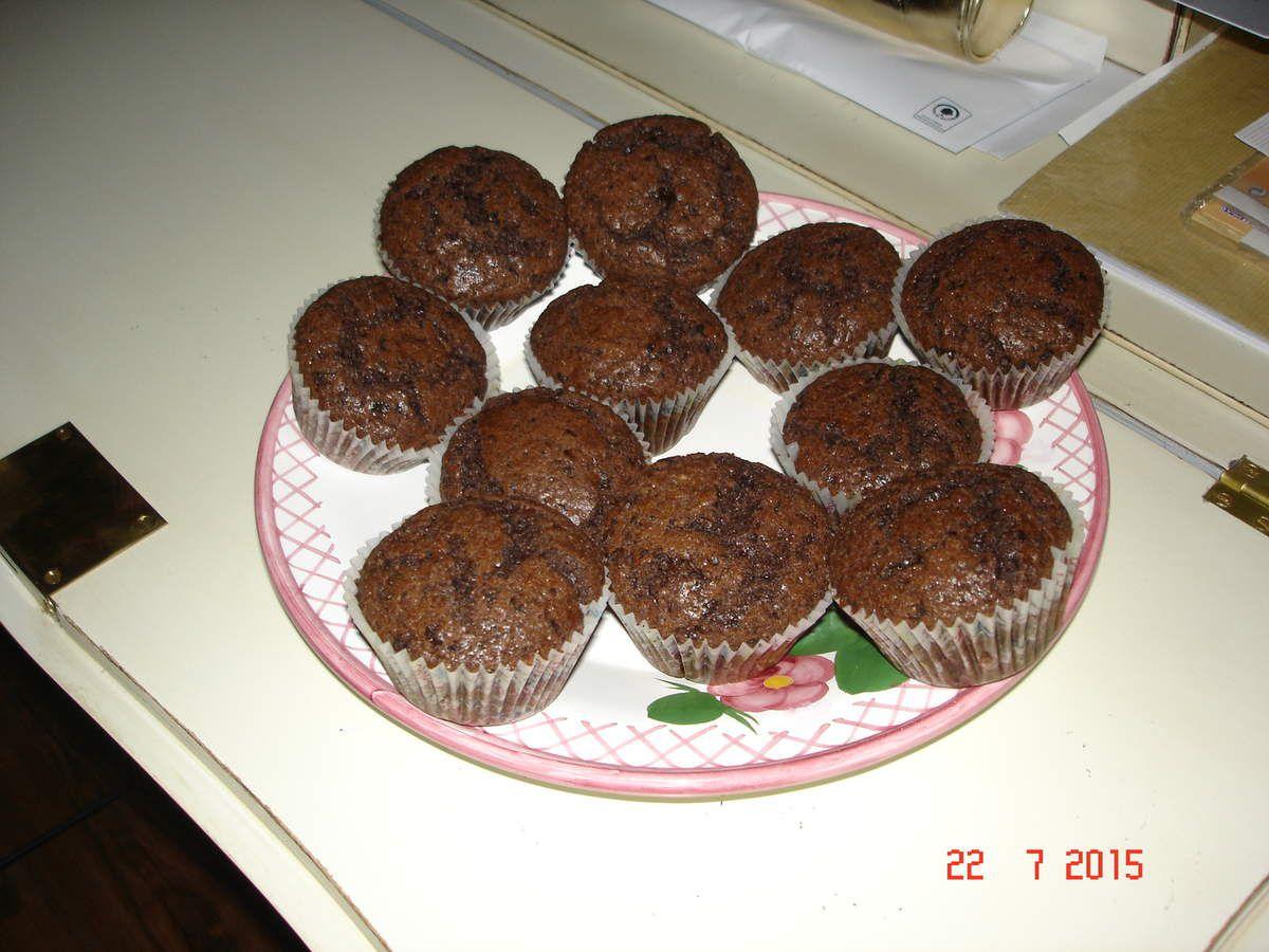 Muffins double chocolat