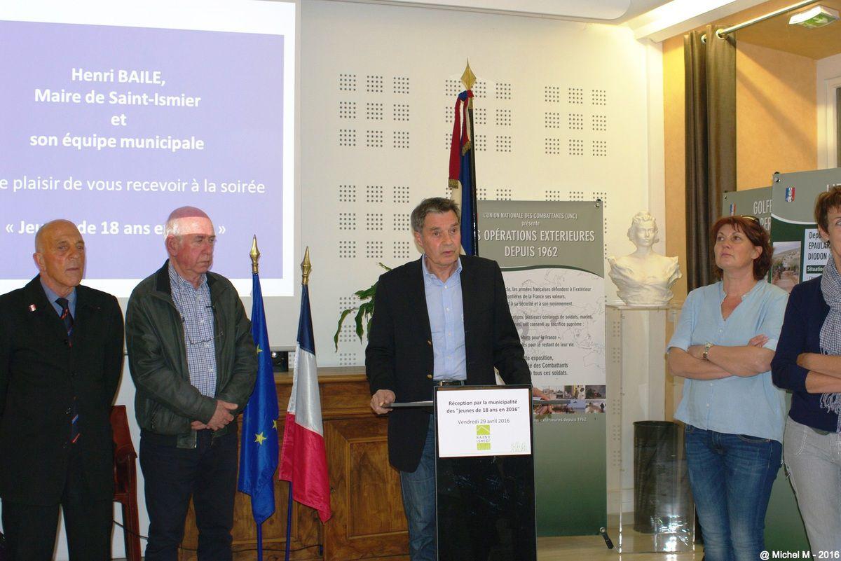 St Ismier-Réception des jeunes de 18 ans en 2016