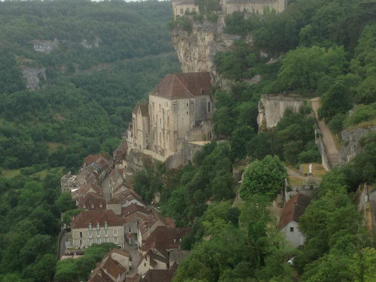 Vue sur le village de Rocamadour.