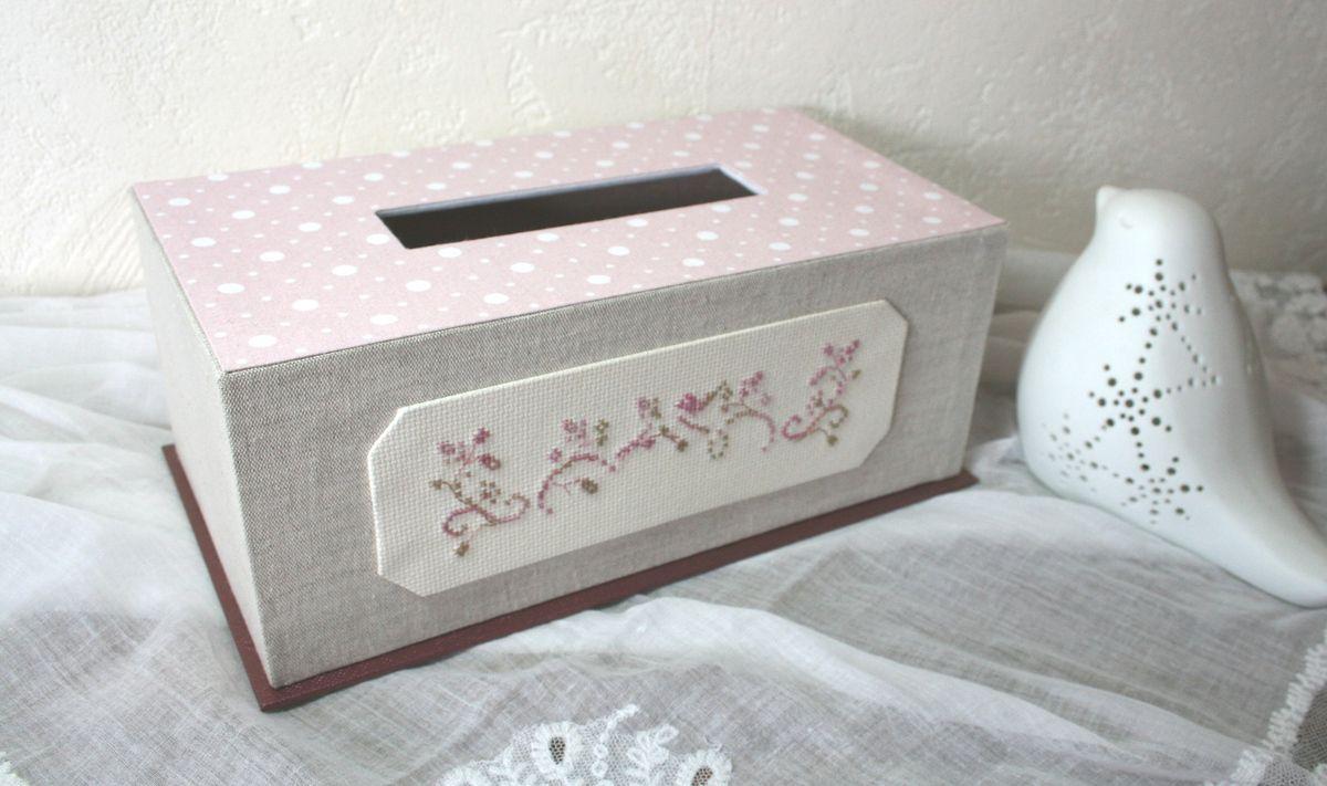 Tissu de lin et coton rose à pois, skivertex pour le socle