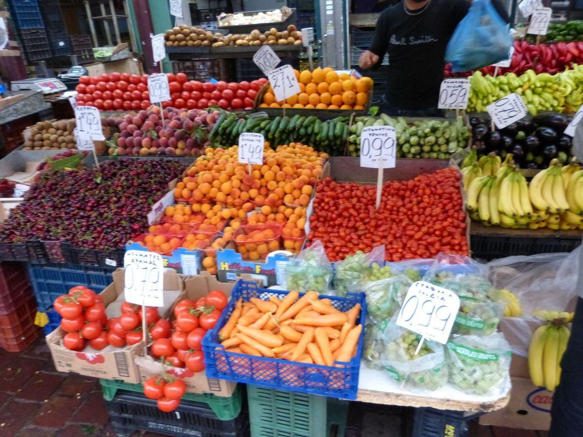 Le marché central d'Athènes