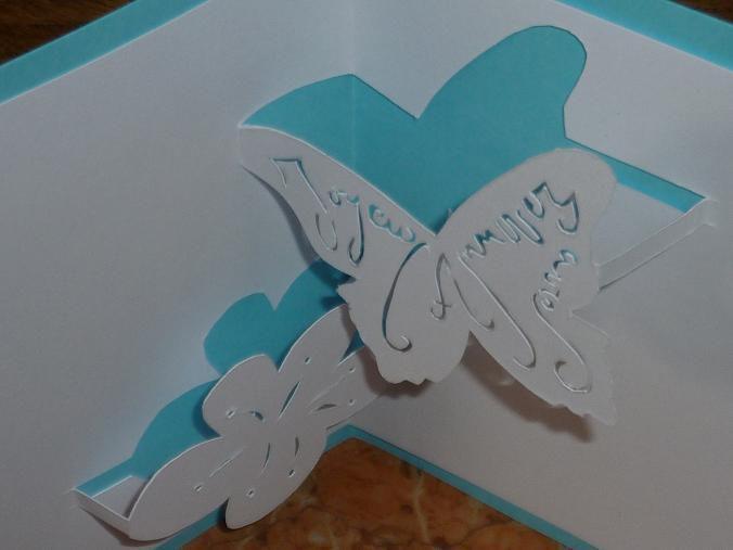 Kirigami Gabarit gratuit : Papillon d'Anniversaire
