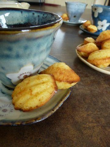 Mini-madeleines au miel