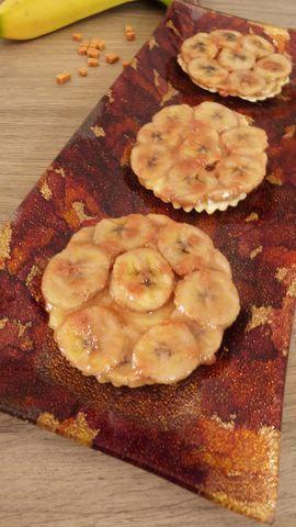 Tatins de bananes au caramel