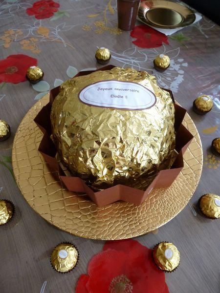 Gâteau façon Ferrero Rocher géant