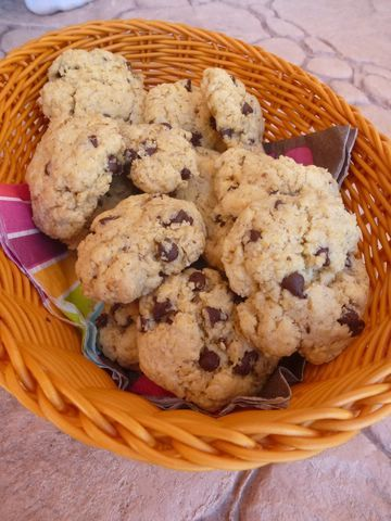 Cookies au son d'avoine et pépites de chocolat (so yummy !!)