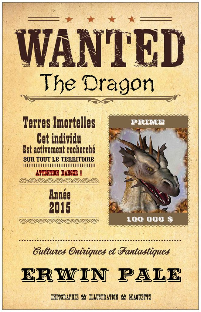 Erwin Pale Graphics - Wanted the Dragon - 2015