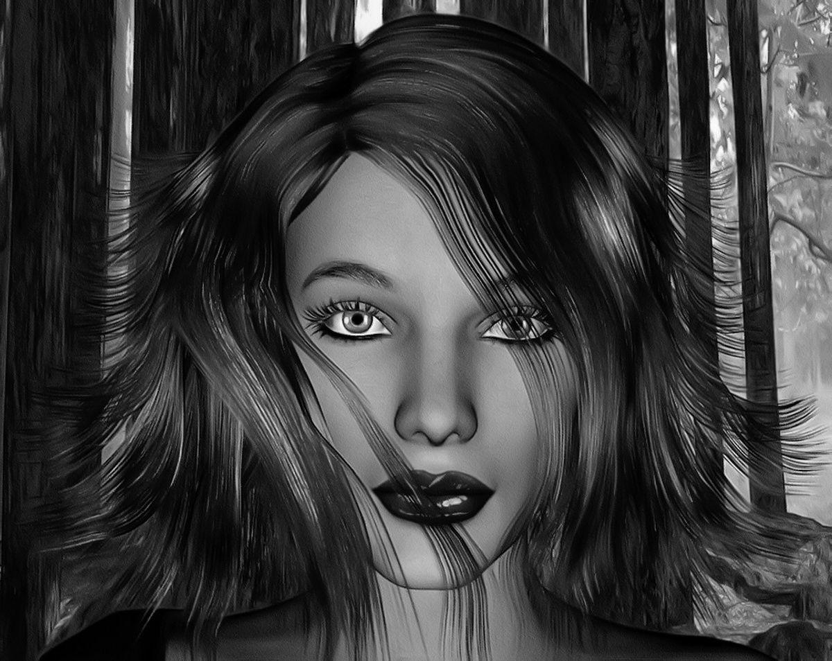 Erwin Pale Graphics - Forêt noire - portrait noir et blanc - 2005-2015