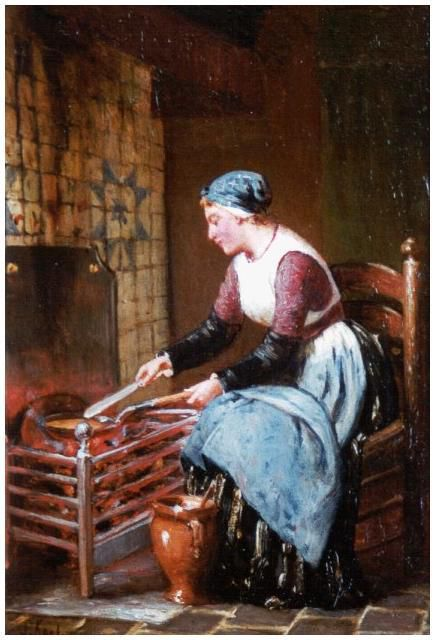 Sipke Kool - 1900 - la cuisson des crêpes - Simonis et Buunk Collection