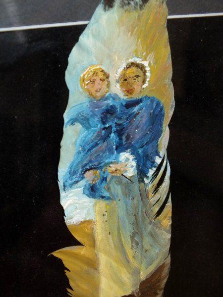 LES PLUMES PEINTES ...de CHRISTINE DILLINGER...au MUSÉE DE LA MARINE à ETAPLES SUR MER...