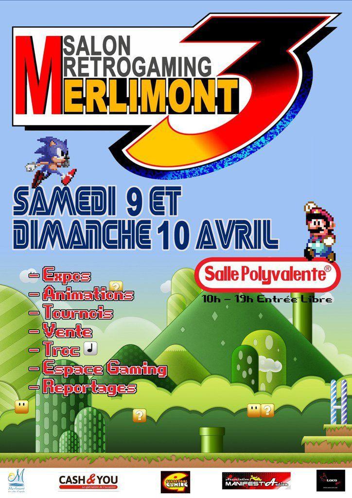 SALON &quot&#x3B;RETROGAMING&quot&#x3B;...à MERLIMONT...CE WE