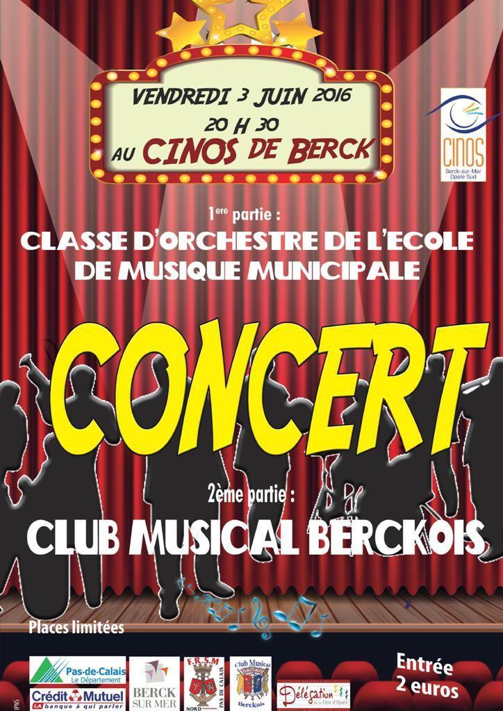 CONCERT DU CLUB MUSICAL BERCKOIS...LE 3 JUIN...