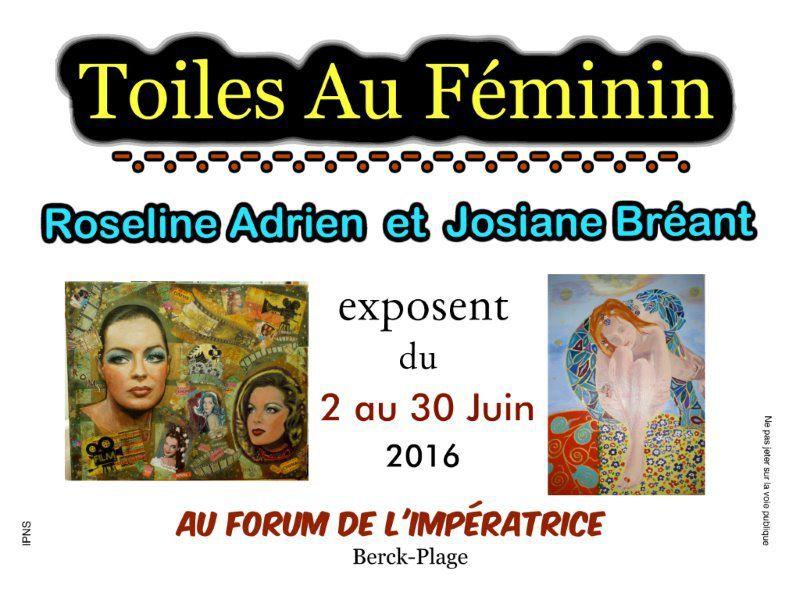 &quot&#x3B;TOILES AU FEMININ&quot&#x3B;... AU FORUM DE L'IMPERATRICE ...de BERCK-PLAGE...EN JUIN...N°2