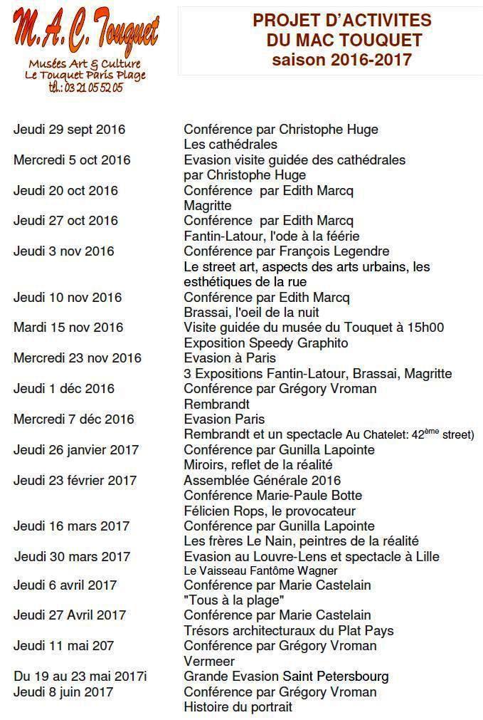 TOUT SAVOIR SUR...&quot&#x3B;MAGRITTE&quot&#x3B;...le 20 OCTOBRE au TOUQUET...