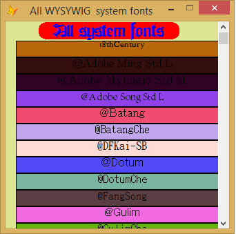 Working with  fonts